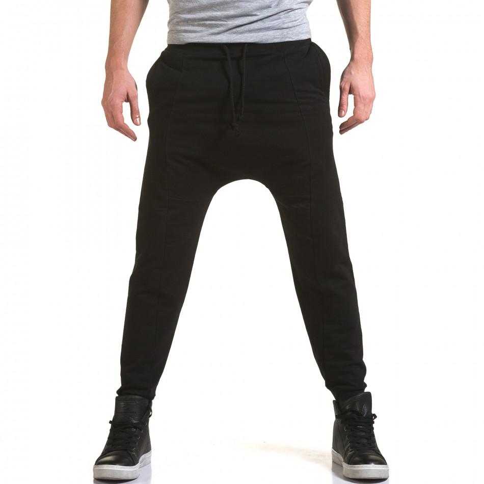 Мъжки черни потури със смъкнато дъно it090216-62