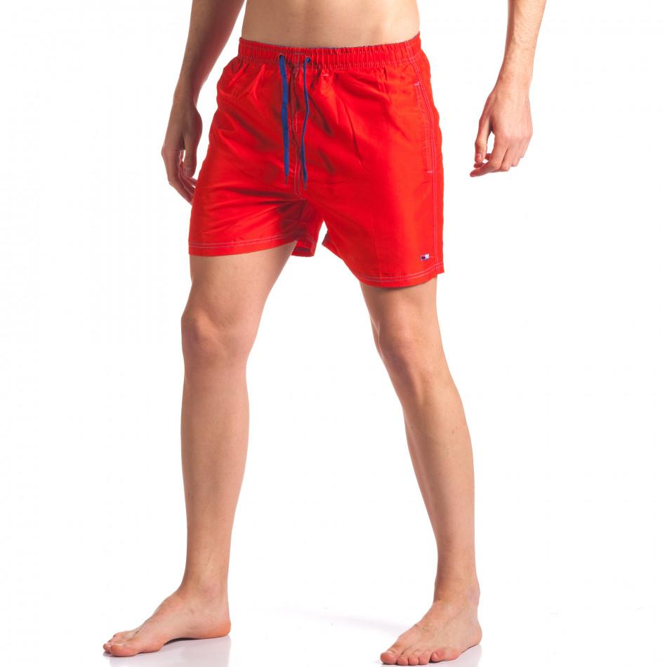Мъжки червени бански с джобове it250416-57