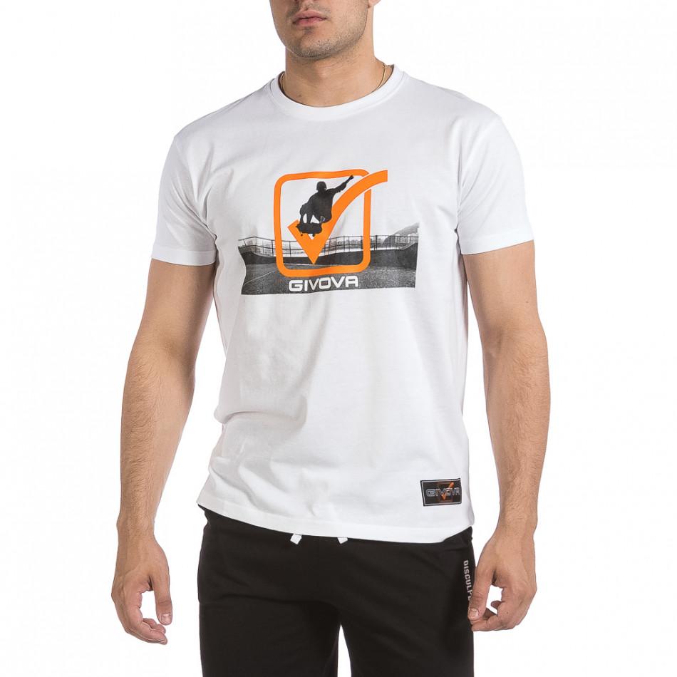 Мъжка бяла тениска Givova it040621-18