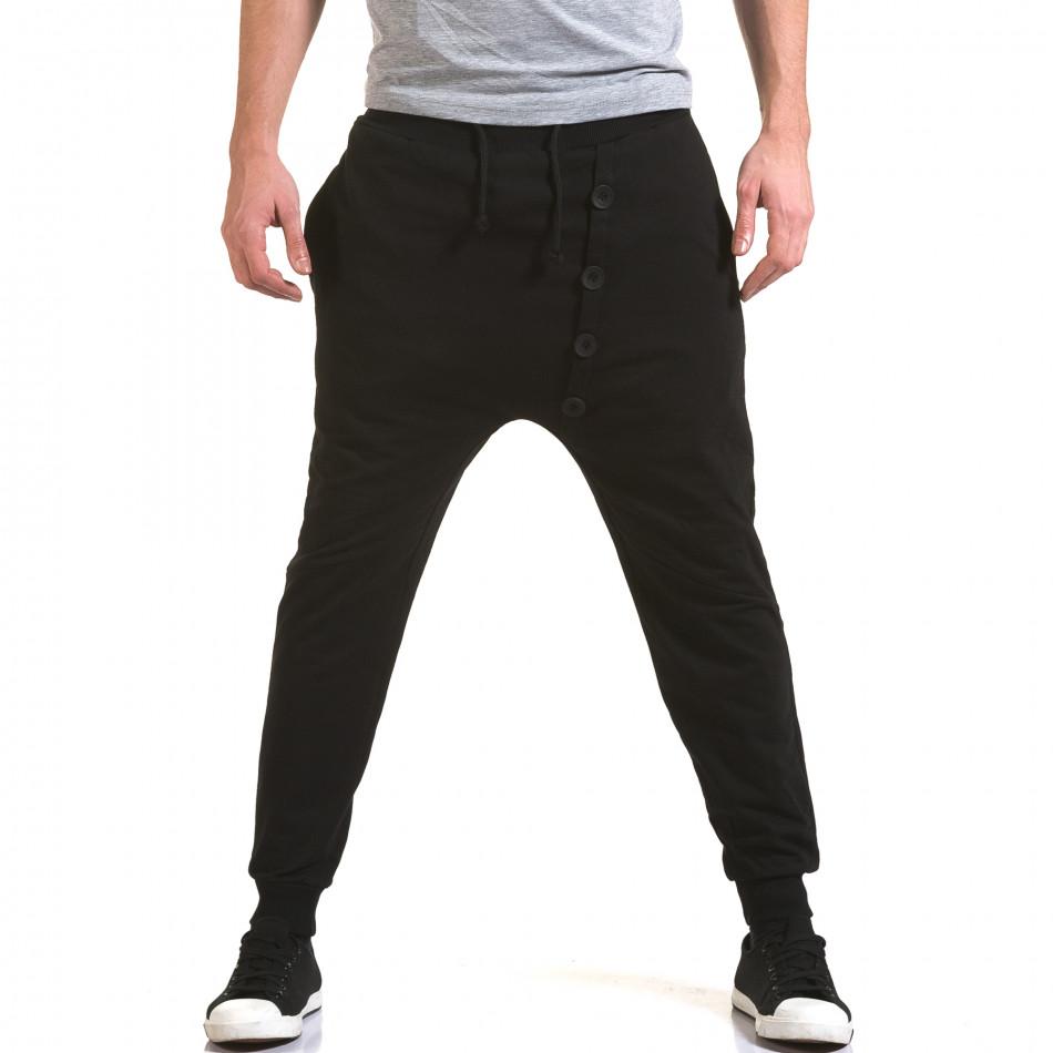 Мъжки черни потури с декоративни копчета it090216-63
