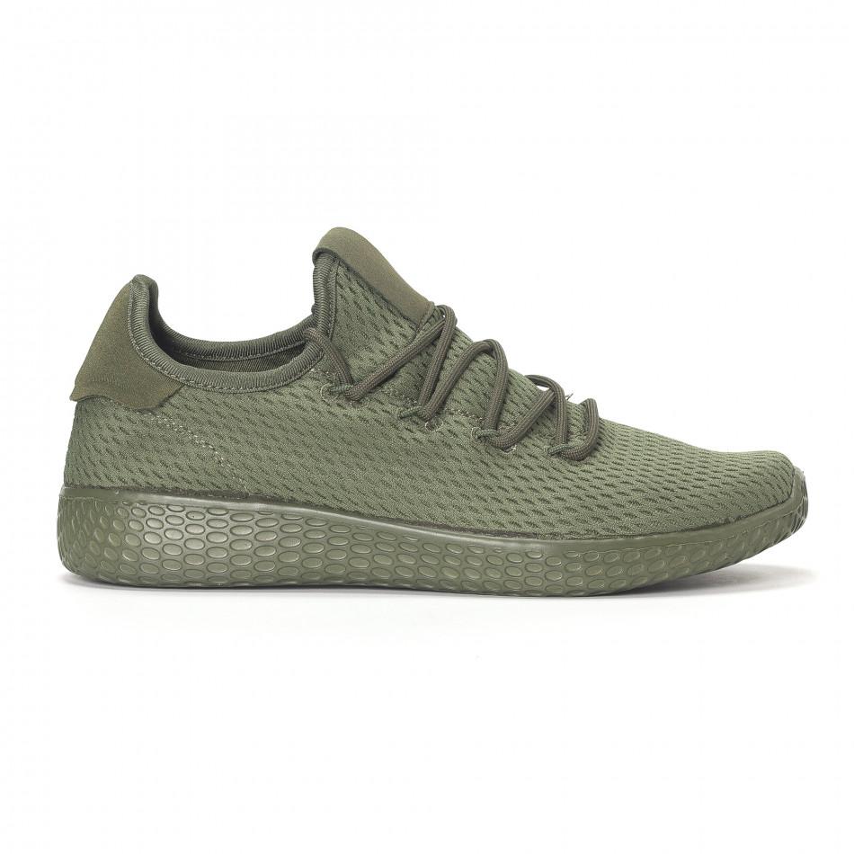 Мъжки зелени леки маратонки All-green it240418-7
