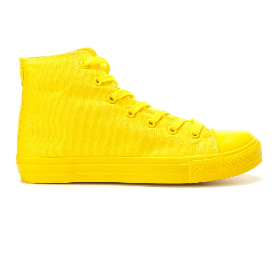 Мъжки жълти високи кецове с гумена част отпред it260117-36