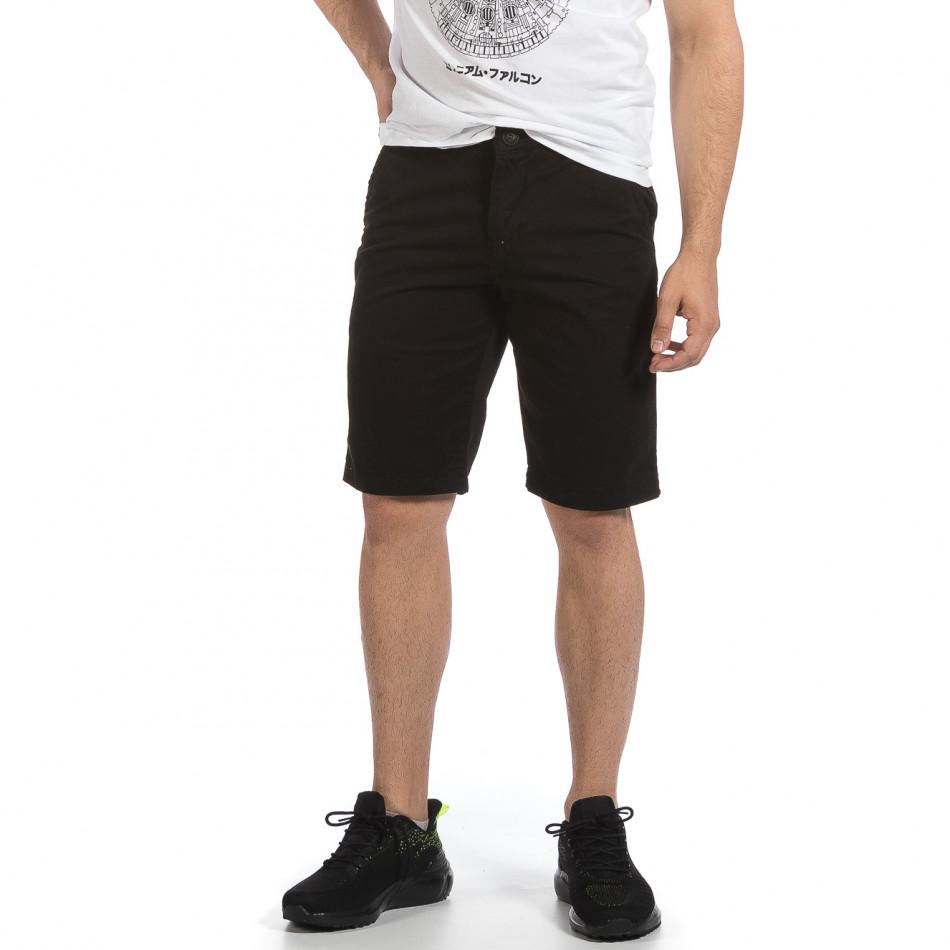 Мъжки черни къси панталони & Big Size tr040621-26
