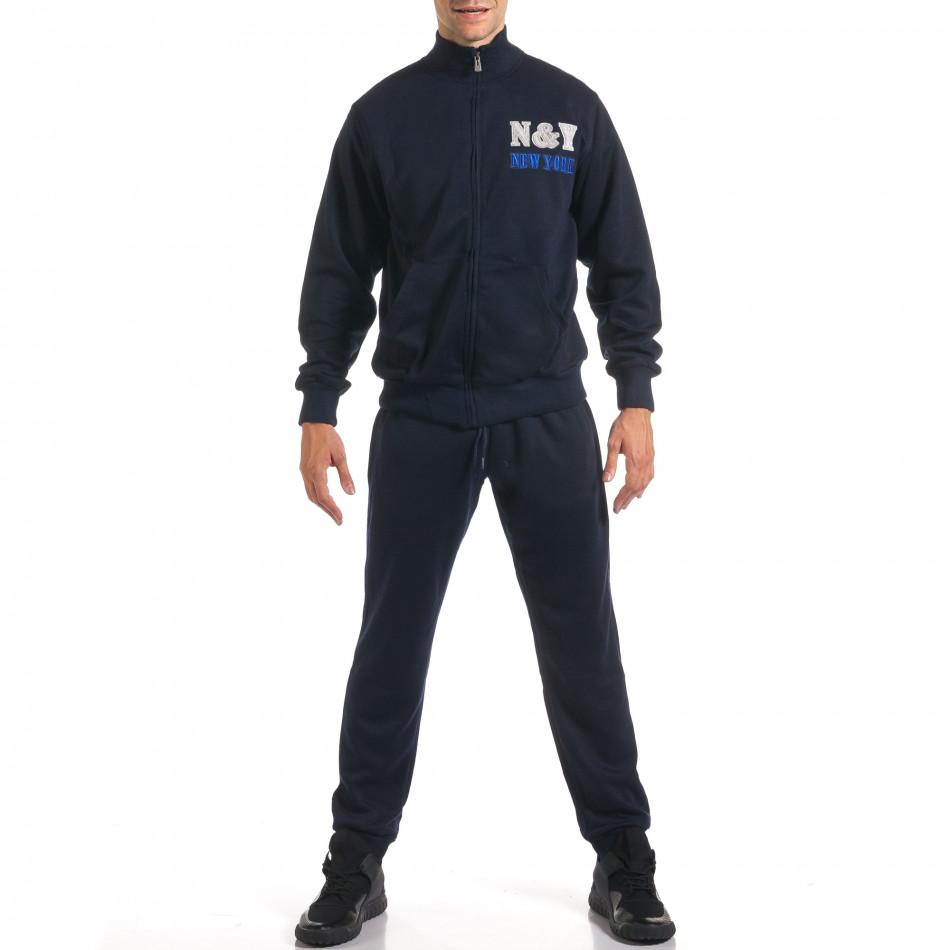 Мъжки син спортен комплект с релефен надпис N&Y it160916-79