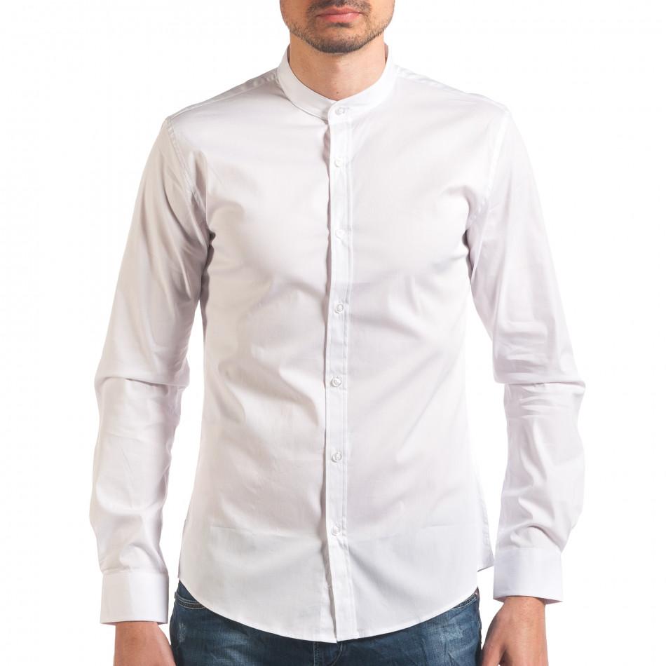 Бяла мъжка риза с попска яка it250416-101