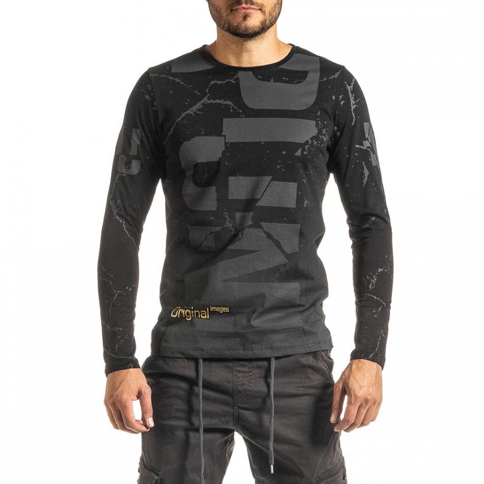 Мъжка черна блуза PUNK tr300920-19
