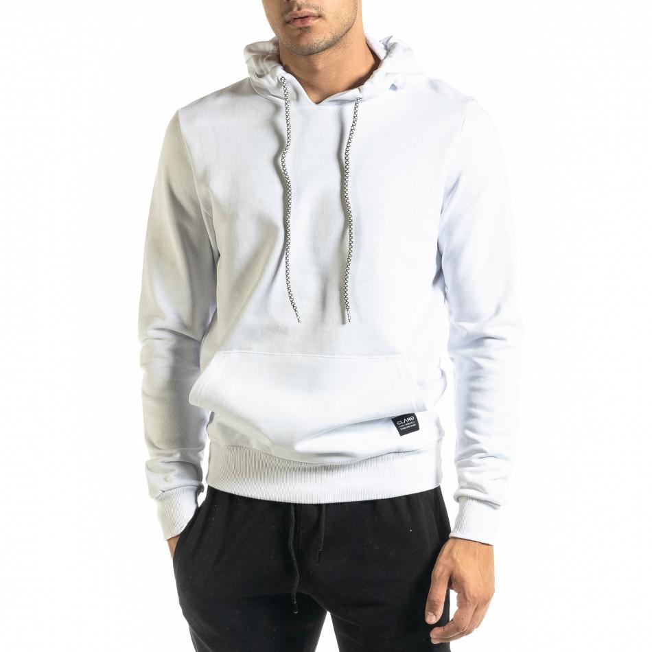 Basic мъжки бял суичър тип анорак tr020920-29