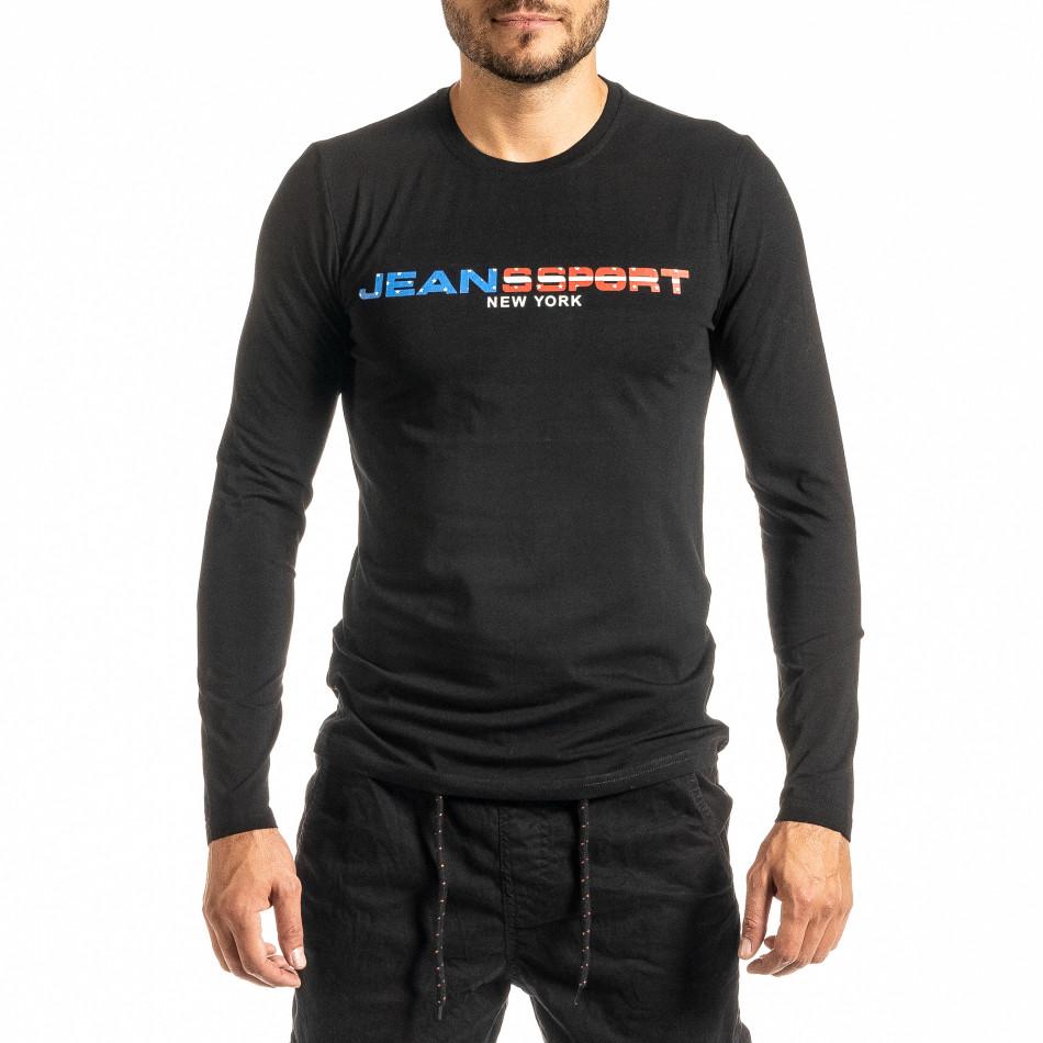 Мъжка черна блуза Jeans Sport it300920-45
