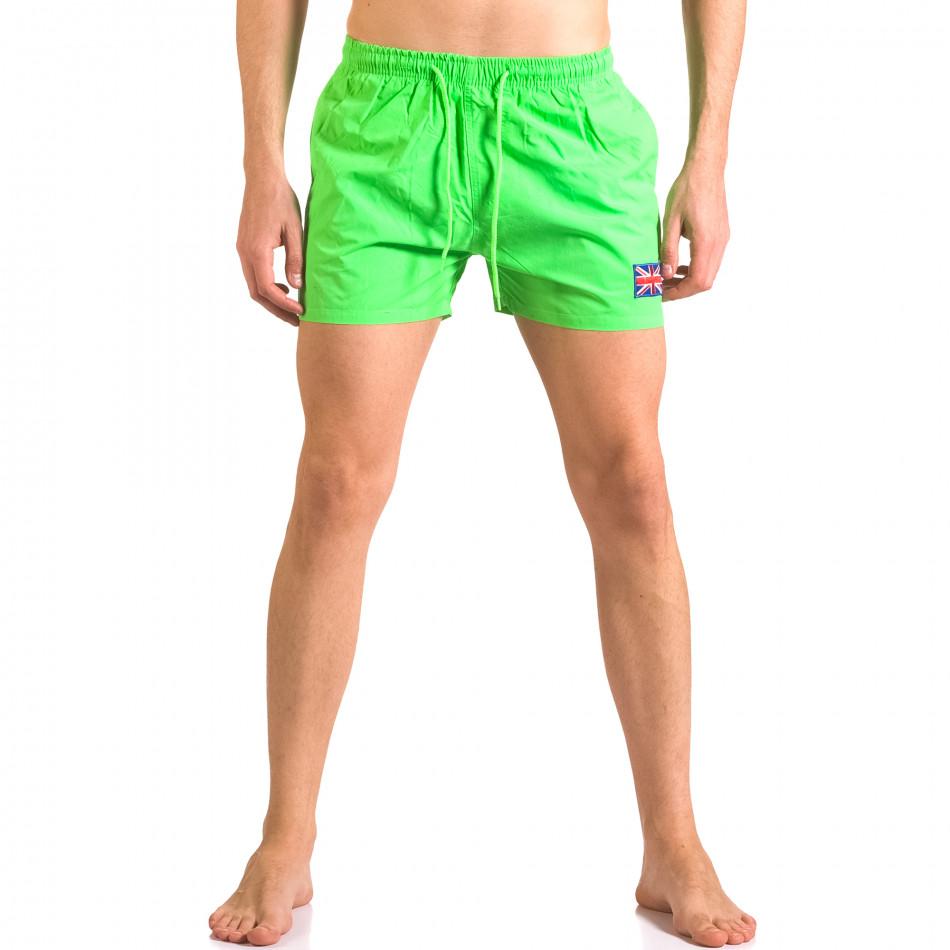 Зелени бански тип шорти с джобове ca050416-8