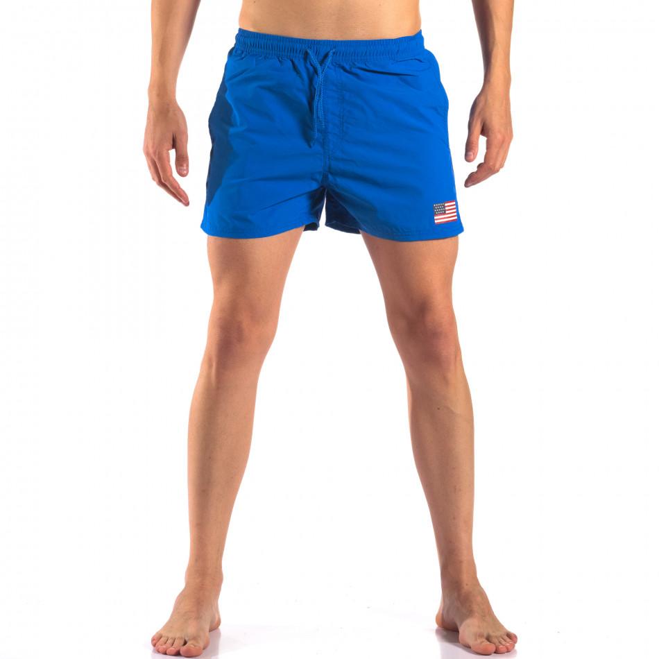 Мъжки сини бански с Американското знаме it150616-27