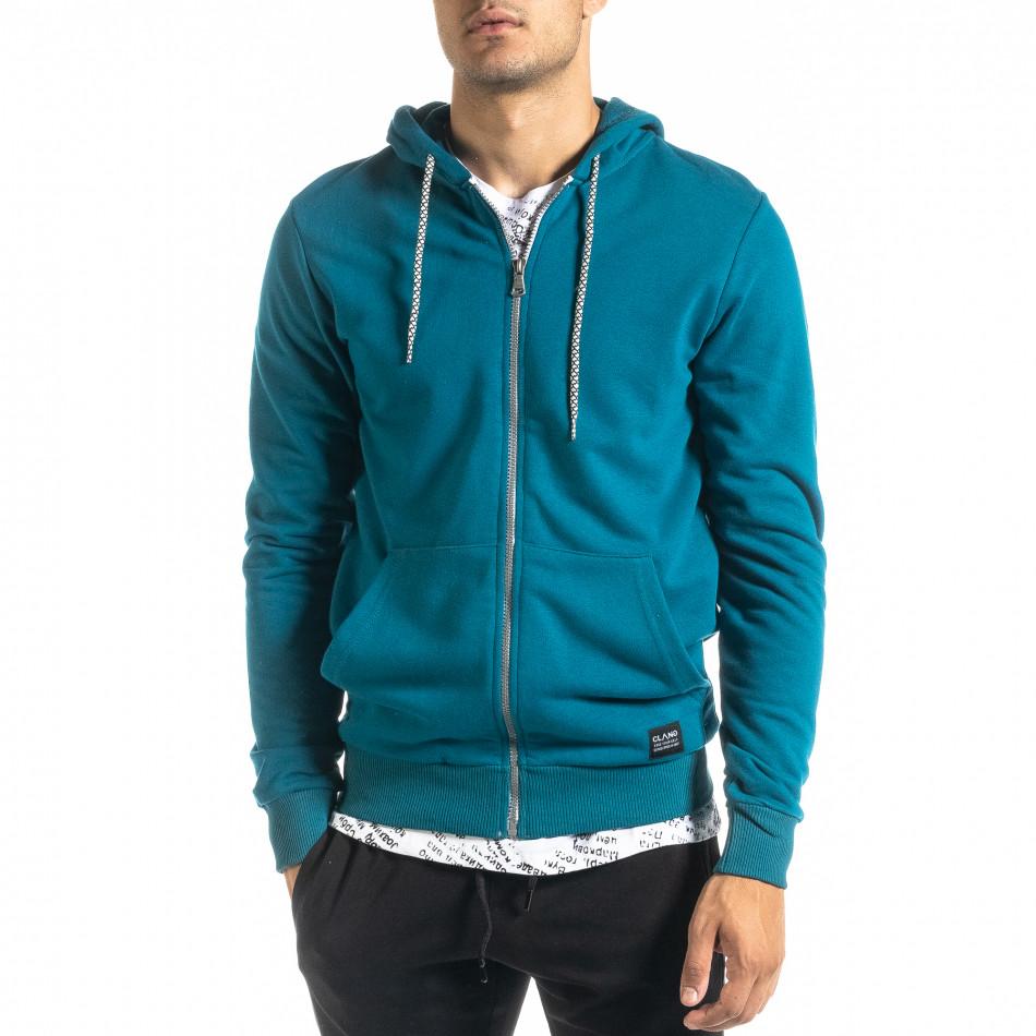 Basic мъжки суичър цвят тюркоаз tr020920-38