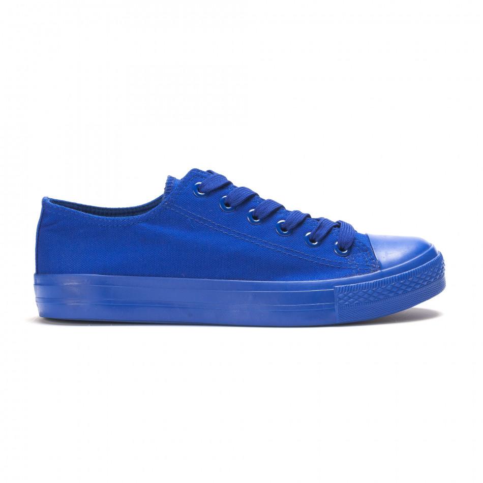 Мъжки сини кецове с гумена част отпред it090616-28