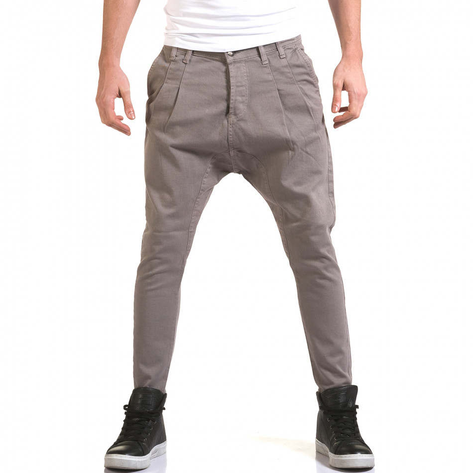 Мъжки сиви дънки с кройка на потури it090216-20