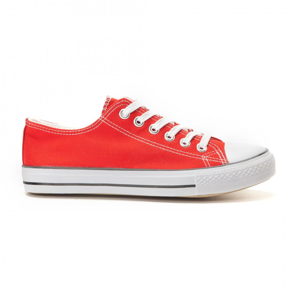 Мъжки червени кецове класически модел. Размер 42 it260117-50-1
