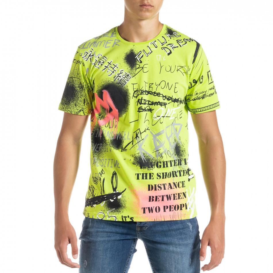 Мъжка зелена тениска Graffiti tr010720-33