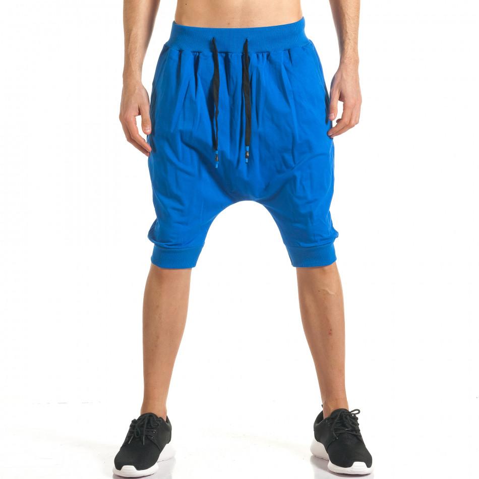 Мъжки сини къси потури с много смъкнато дъно it140317-93
