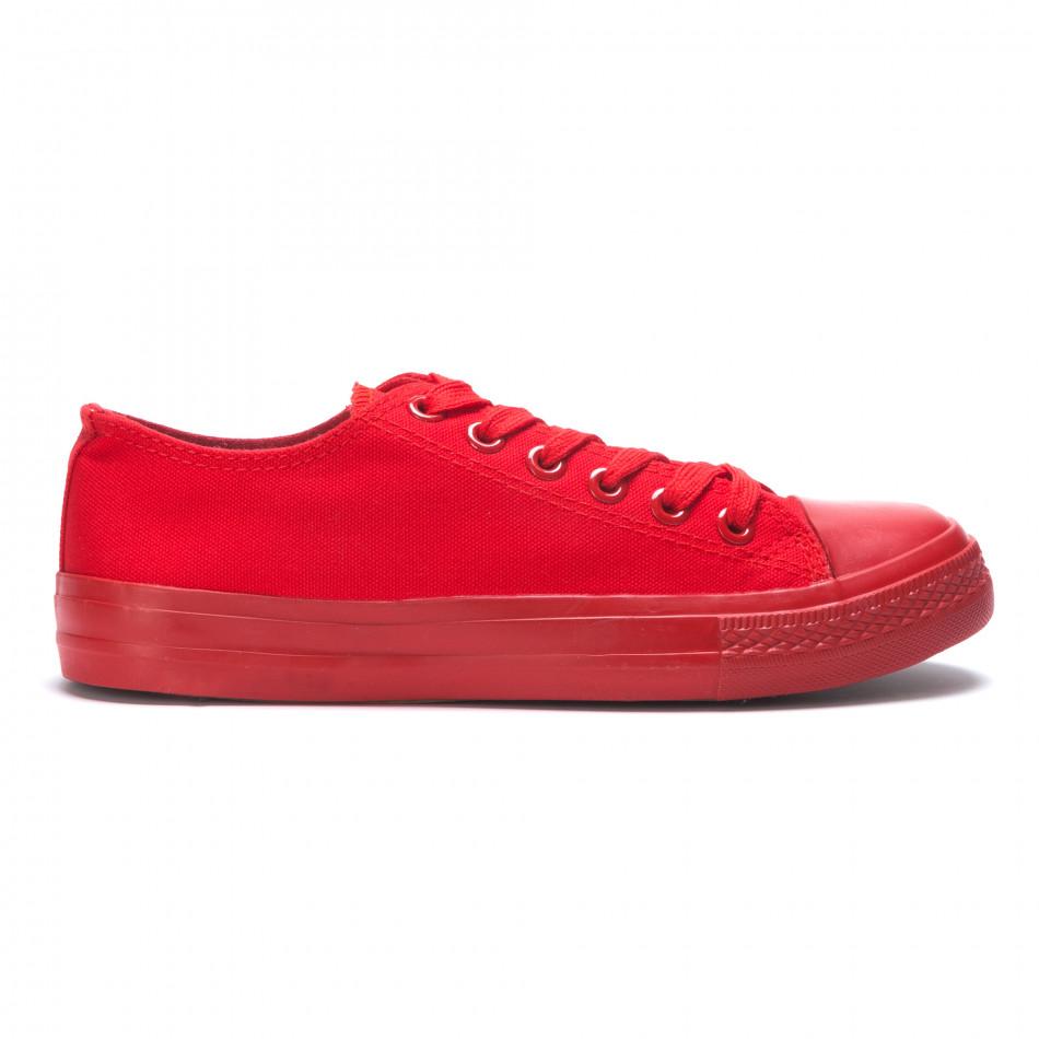 Червени мъжки кецове с връзки it190516-7