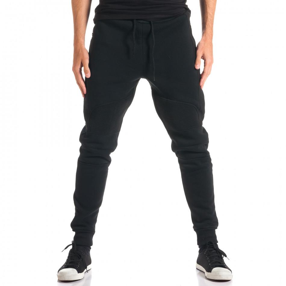 Мъжки черни потури с ципове на джобовете ca280916-11