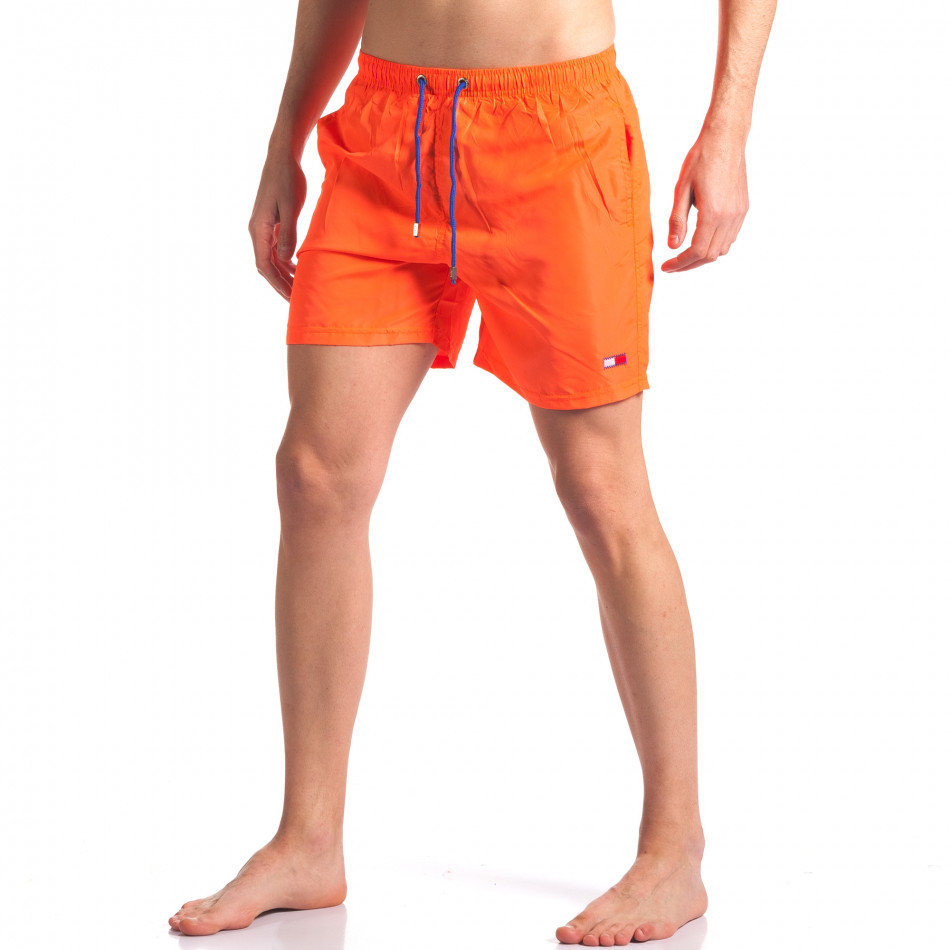 Мъжки неоново оранжеви бански с малка емблема it250416-50