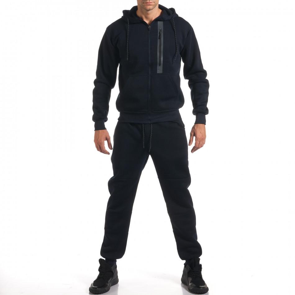 Мъжки син спортен комплект с декоративни ципове it160916-54