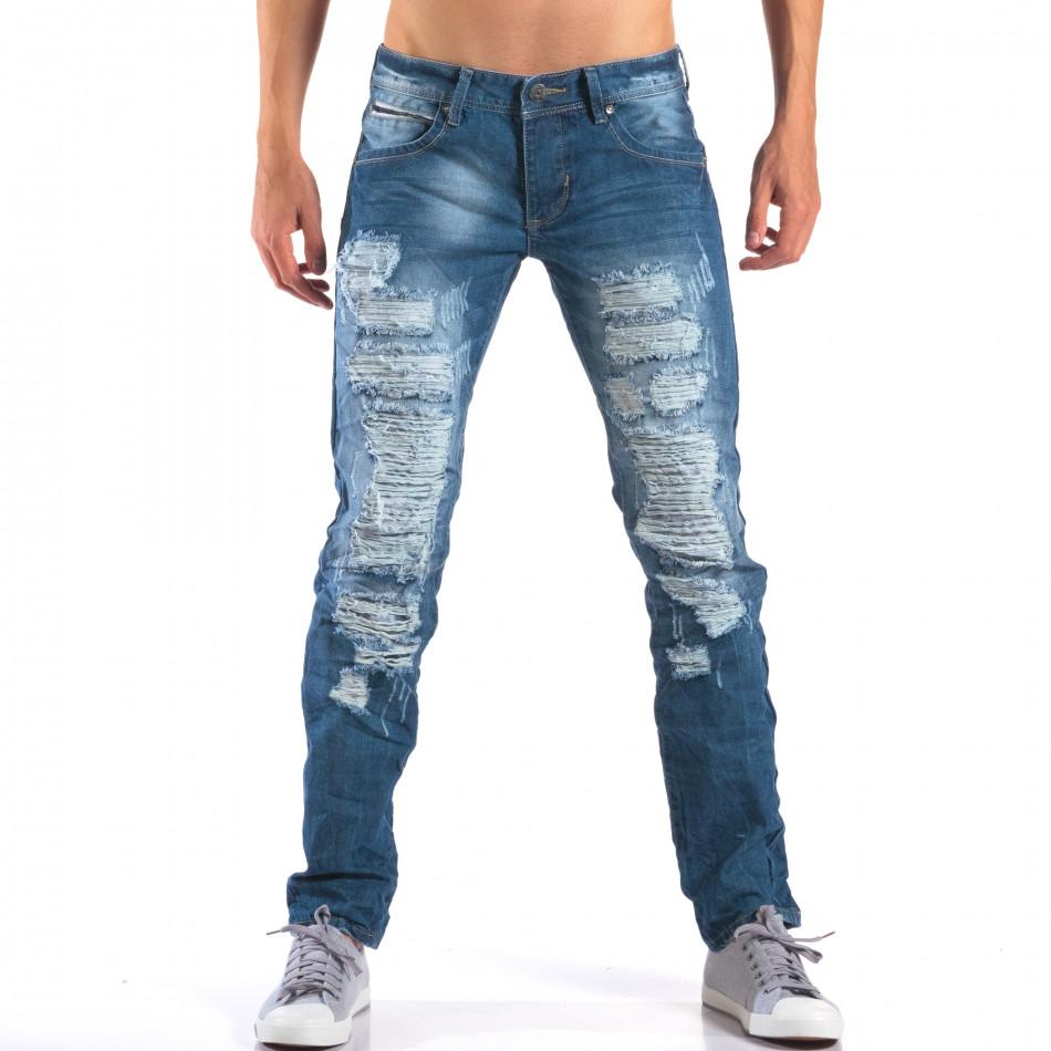 Мъжки дънки с големи скъсвания it160616-22