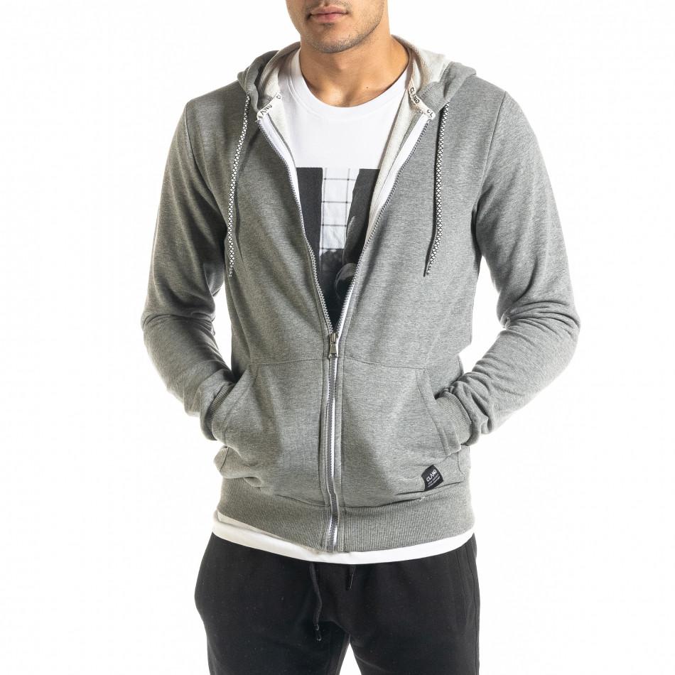 Basic мъжки суичър в сиво tr020920-36