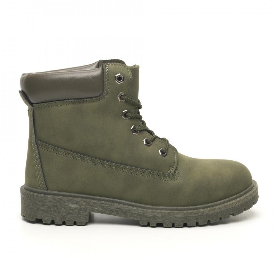 Мъжки милитъри зелени боти класически модел it251019-20