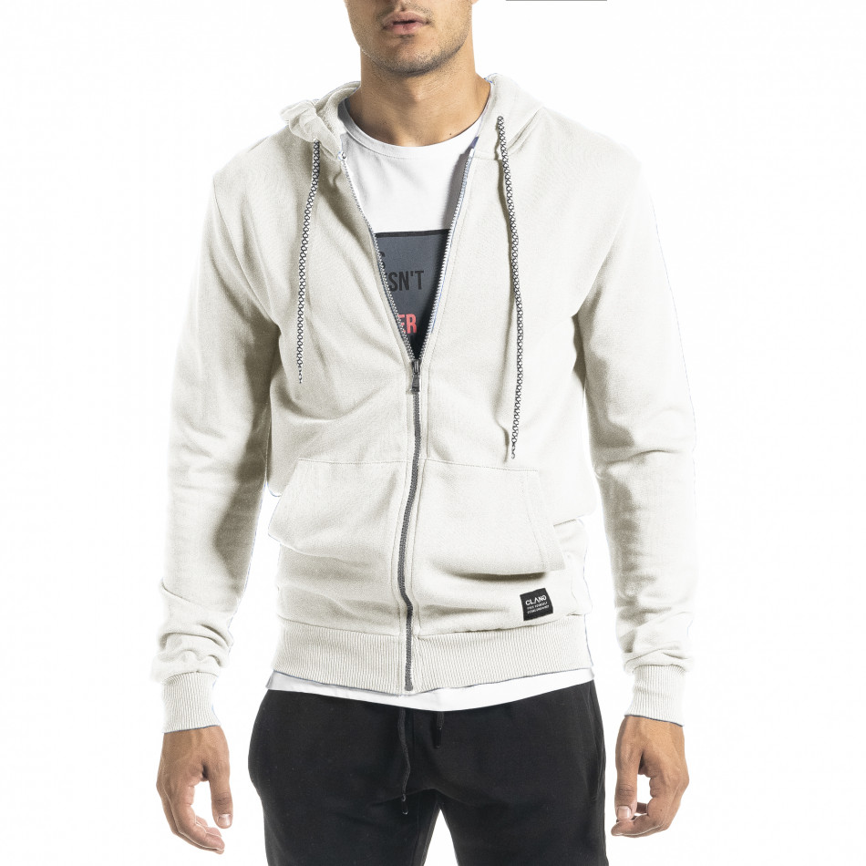 Basic мъжки суичър в бяло tr160221-2