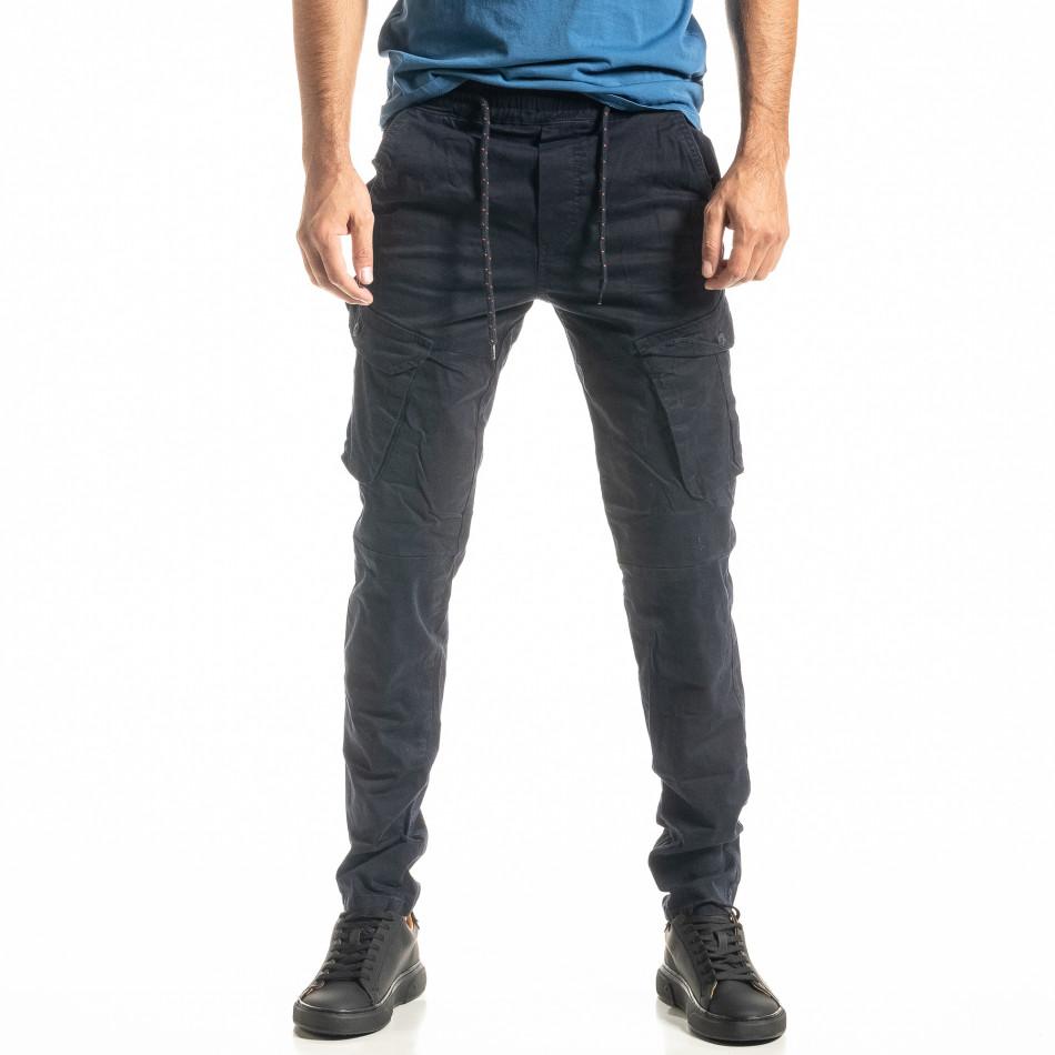 Мъжки син Cargo панталон с прави крачоли tr300920-7