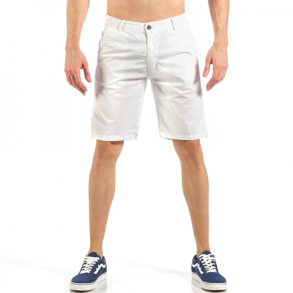 Мъжки бели къси панталони it260318-130