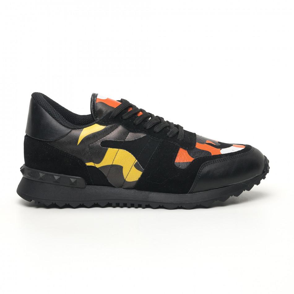 Комбинирани мъжки маратонки цветен камуфлаж tr180320-28