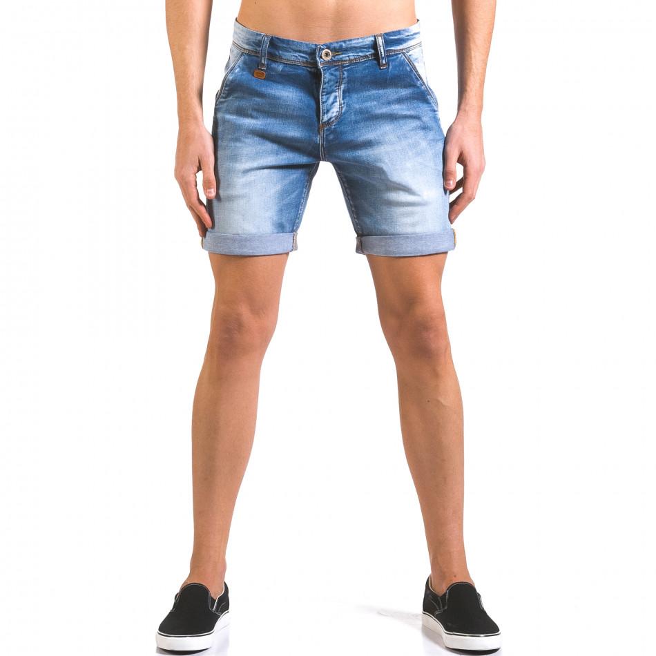 Мъжки къси дънки с навиване на крачолите it160316-9