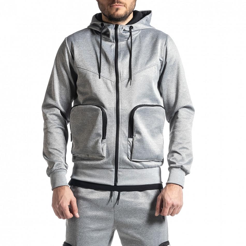 Мъжки сив суичър Cagro style it010221-69