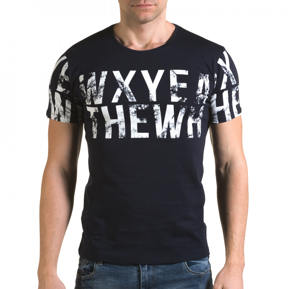 Мъжка синя тениска Wxyea Thewh il120216-35