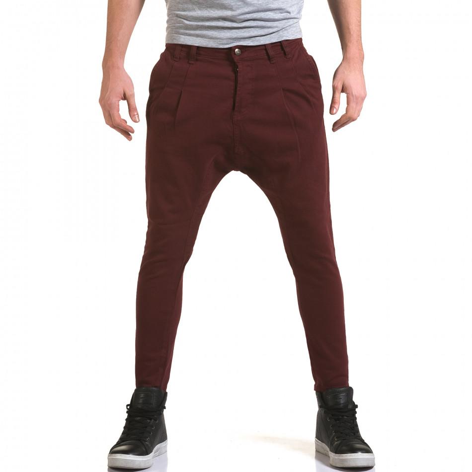Мъжки червени дънки с кройка на потури it090216-21