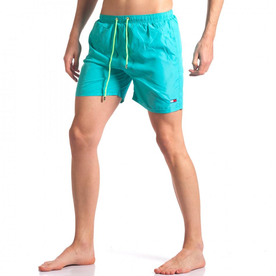Мъжки светло сини бански с малка емблема it250416-52