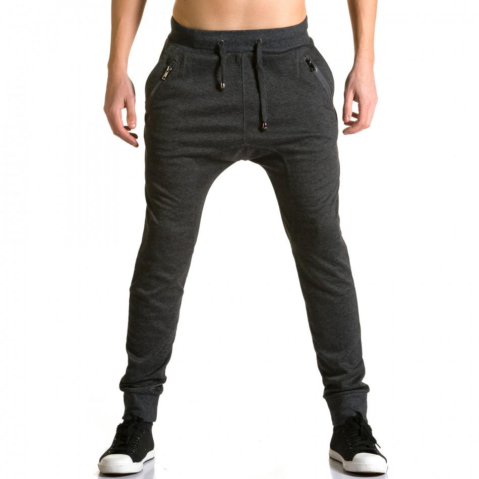 Мъжки черни потури с ципове до джобовете ca190116-19