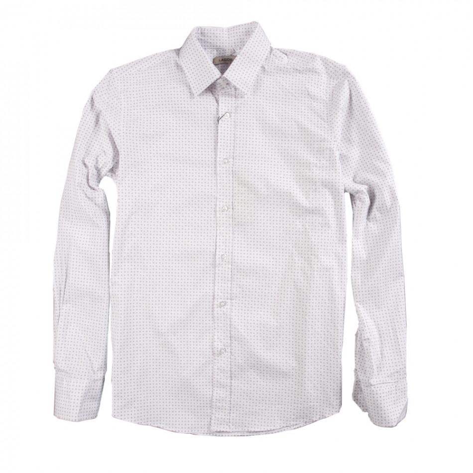 Мъжка риза дискретно щампована 080213-5