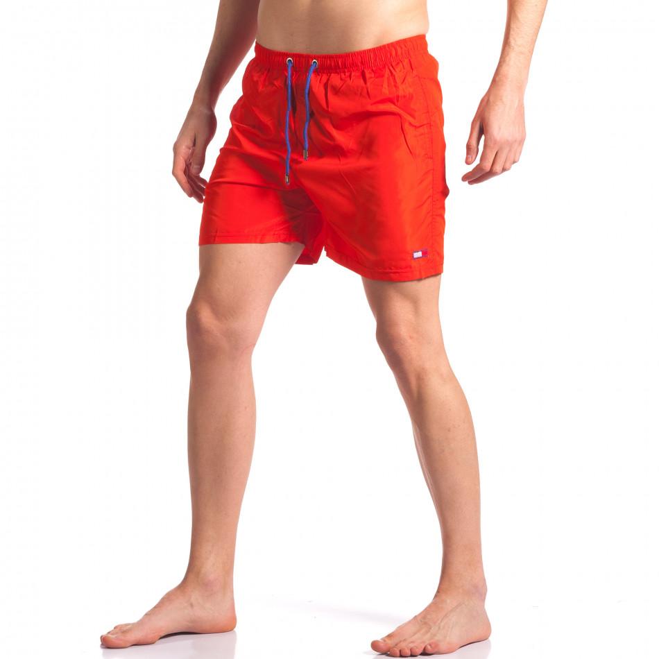 Мъжки червени бански с малка емблема it250416-51