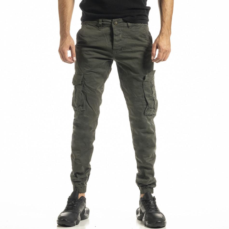 Зелен мъжки панталон Cargo Jogger tr161220-19