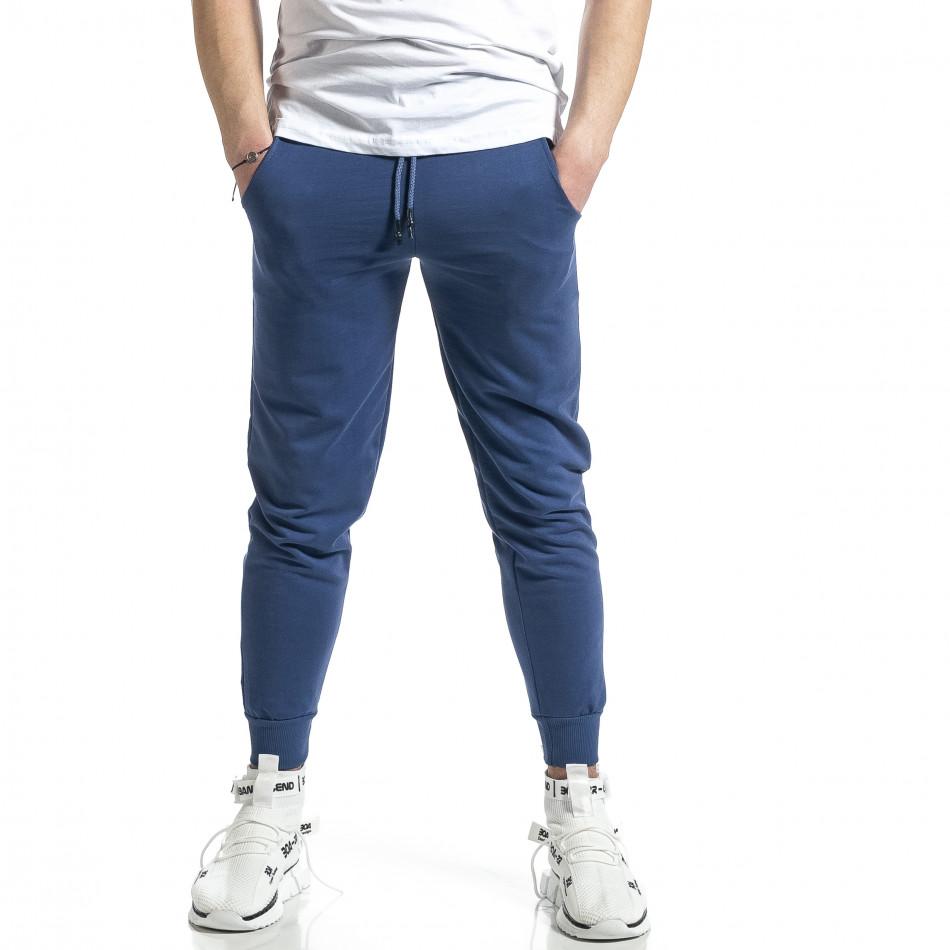 Basic памучно мъжко долнище в синьо it270221-16