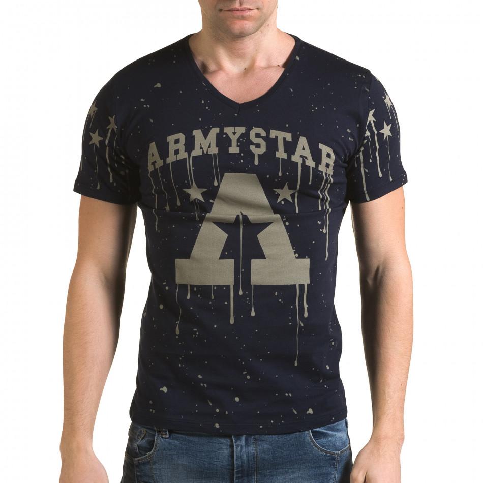 Мъжка тъмно синя тениска Armystar il120216-39