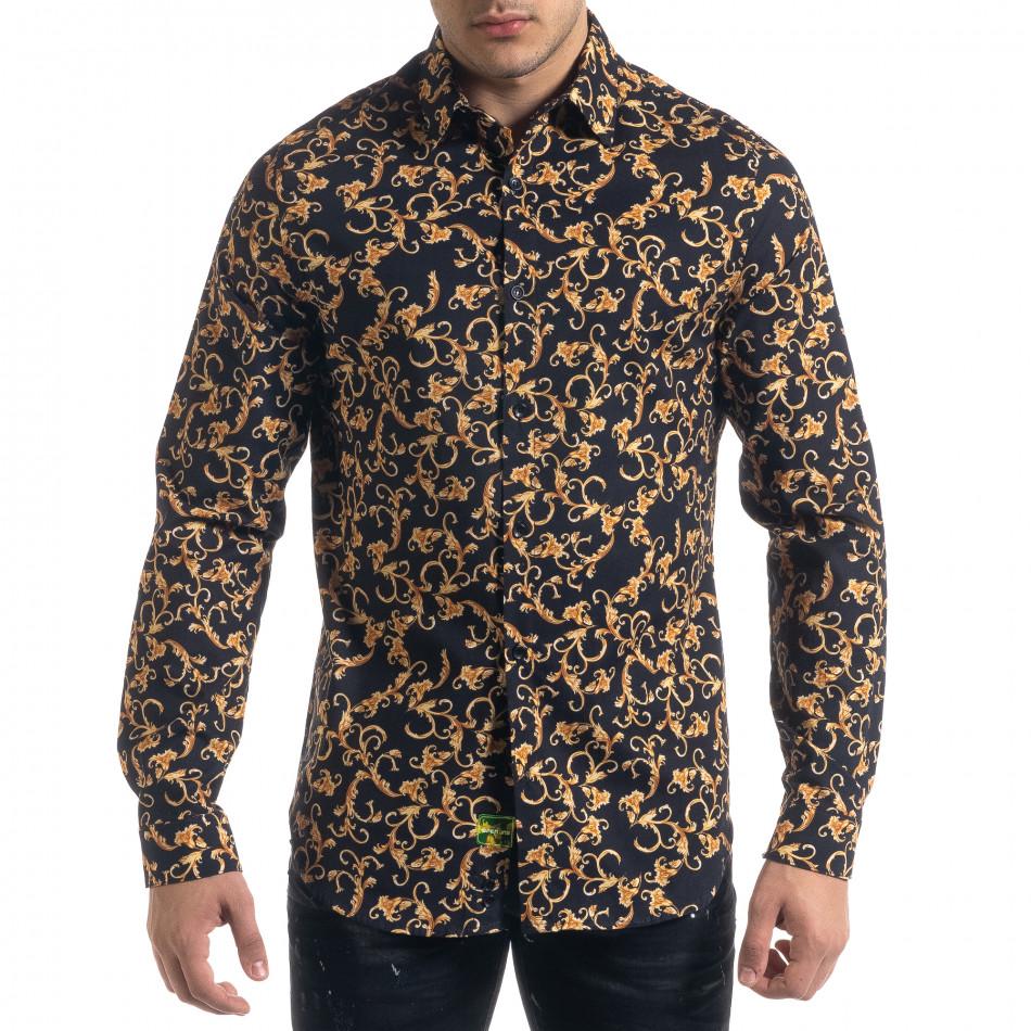 Slim fit мъжка риза флорален десен tr110320-96
