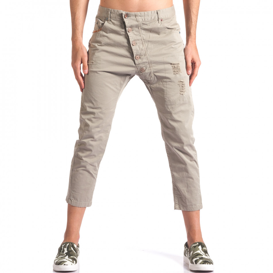 Зелен мъжки панталон 7/8 тип потури it250416-29