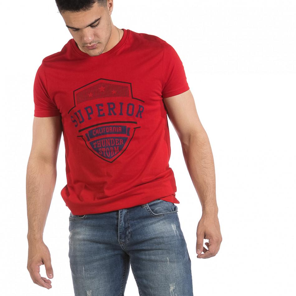 Мъжка червена тениска Superior it040621-13