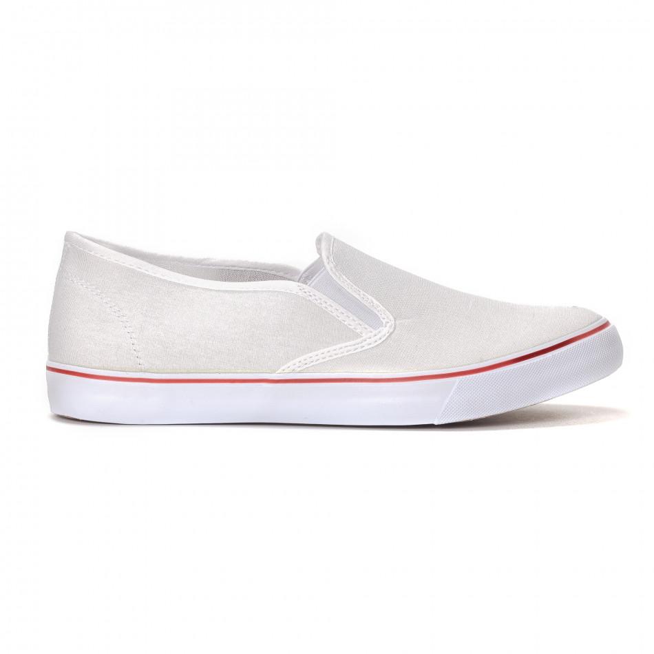 Мъжки класически slip-on кецове в бяло it240418-8