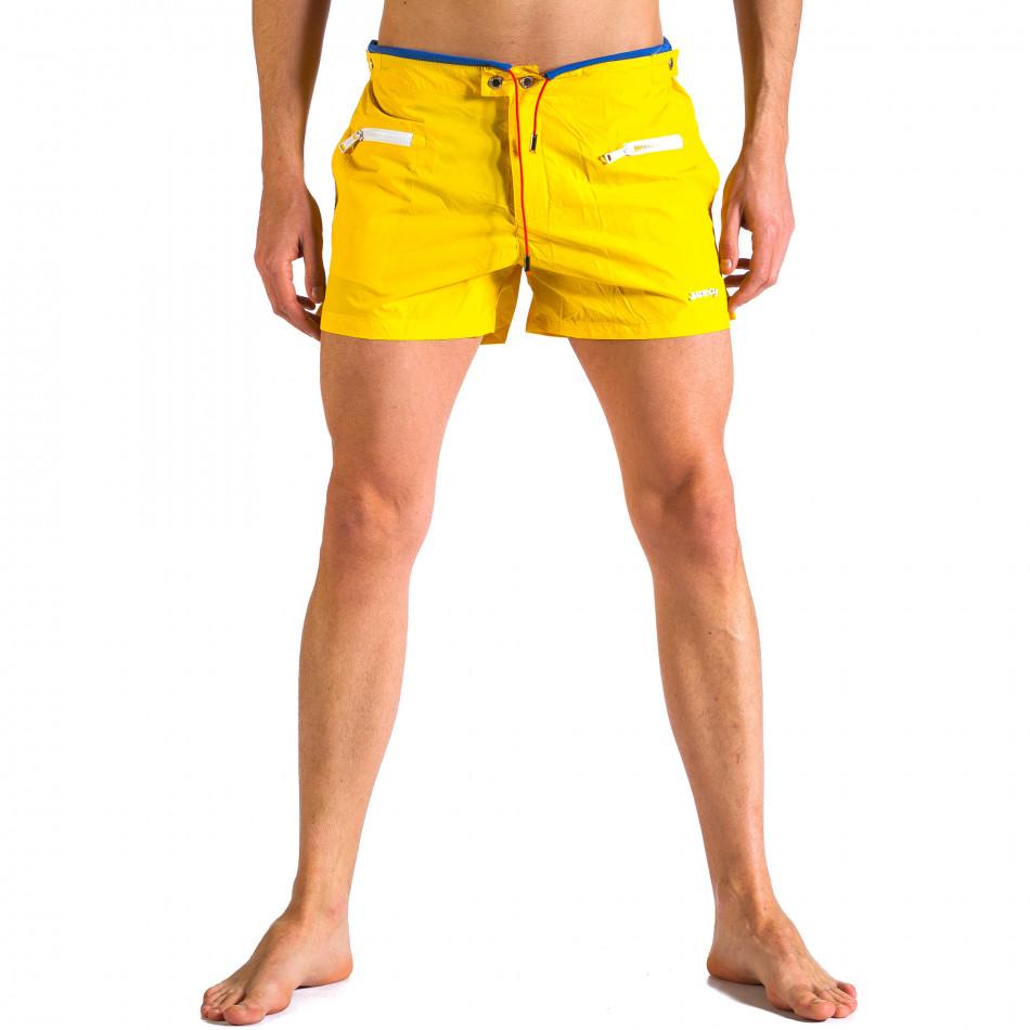 Мъжки жълти бански с бандаж it250416-63
