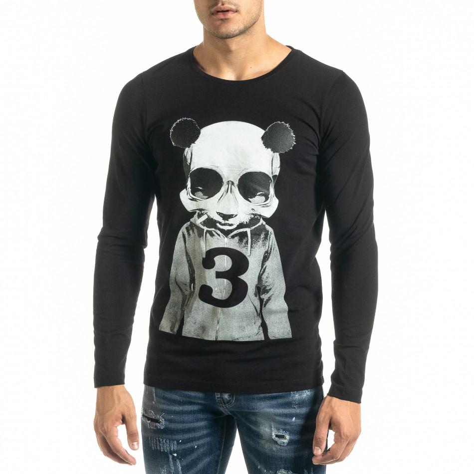 Мъжка черна блуза Panda Skull tr020920-52