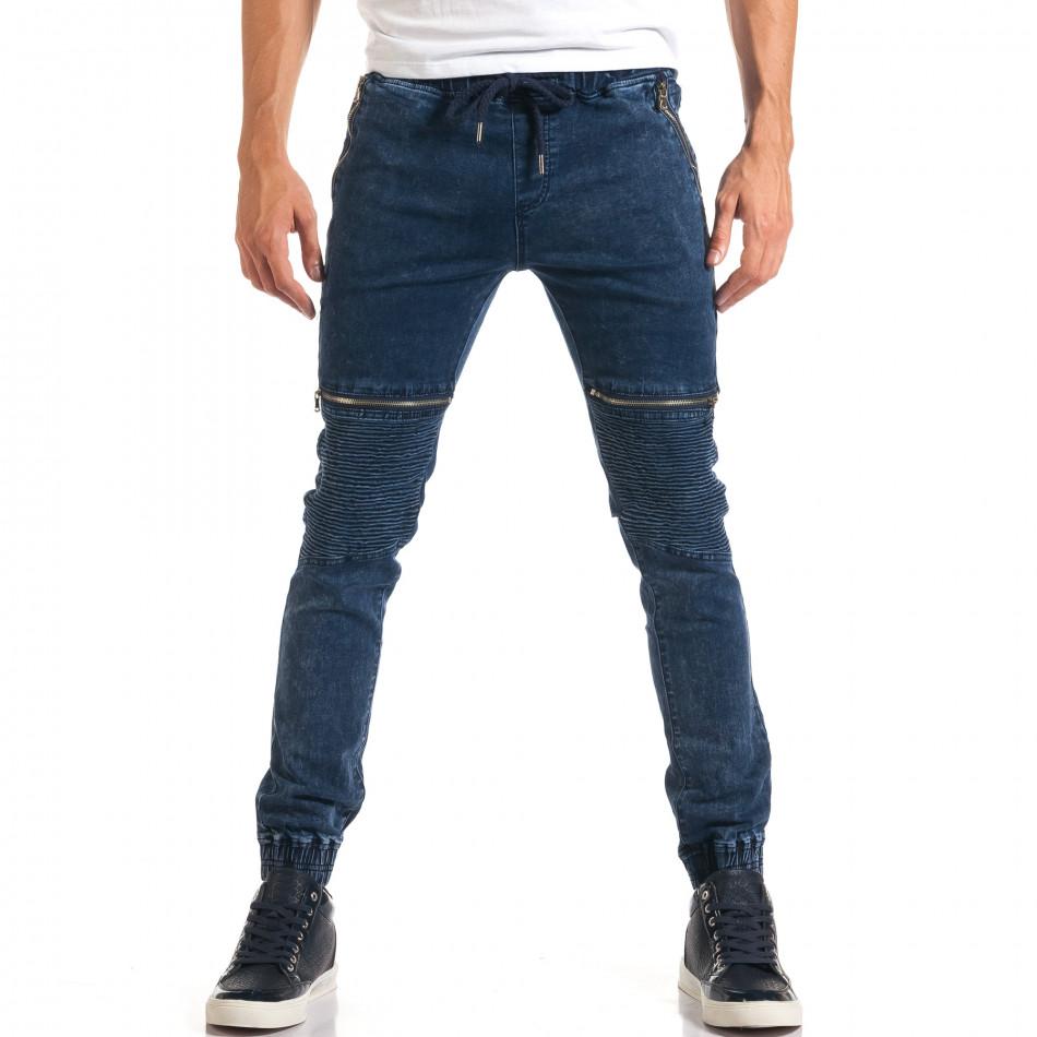 Мъжки дънки с ципове на джобовете it160916-6