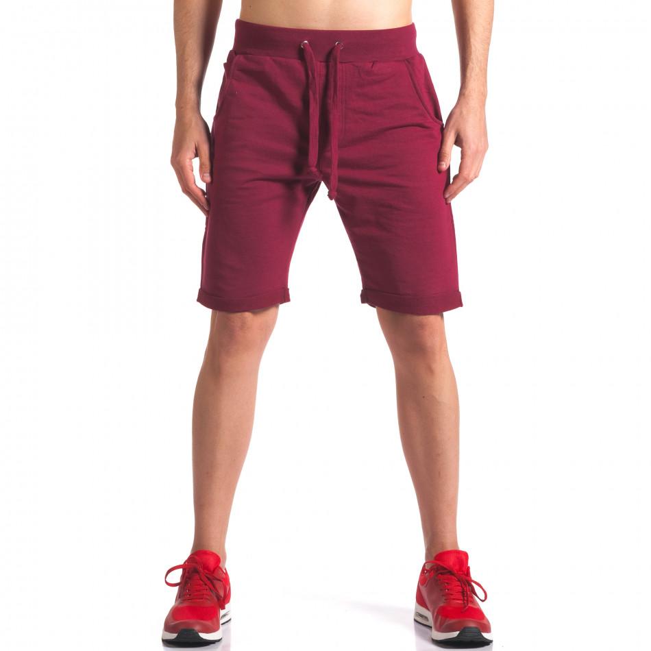 Тъмно червени мъжки шорти за спорт it260416-25